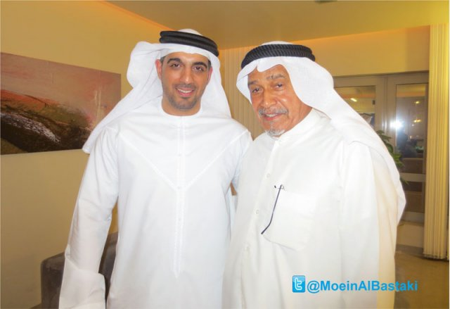 Moein Al Bastaki with celebrities